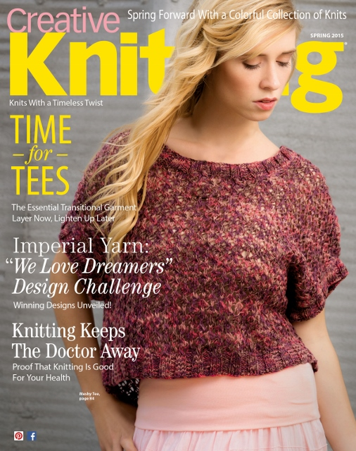 Creative Knitting Spring 2015 Cover
