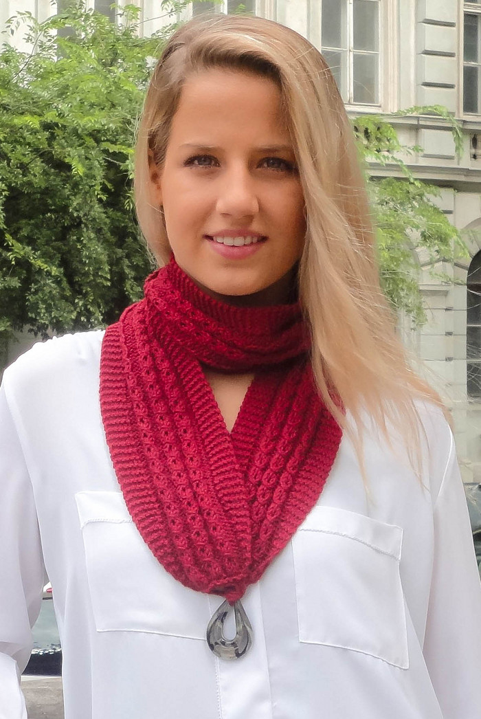 diana knitted scarf kit