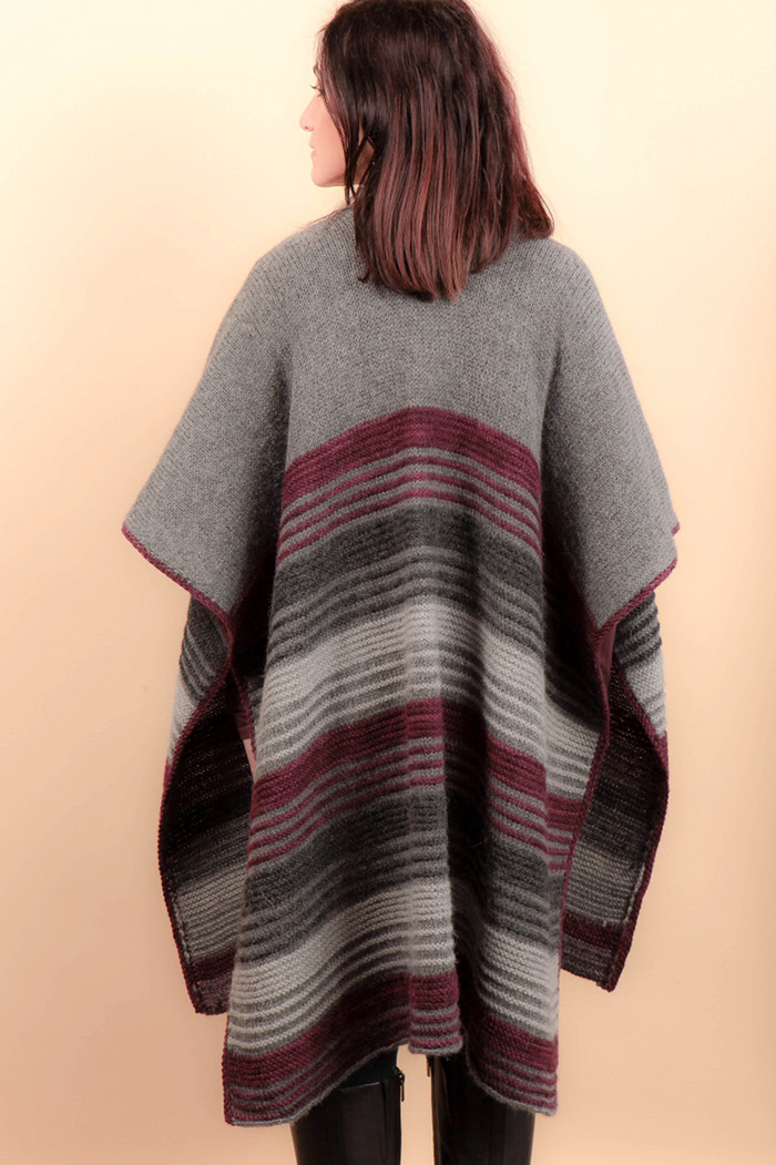 Knitting Patterns For Accessories Modena Poncho Knitting Pattern
