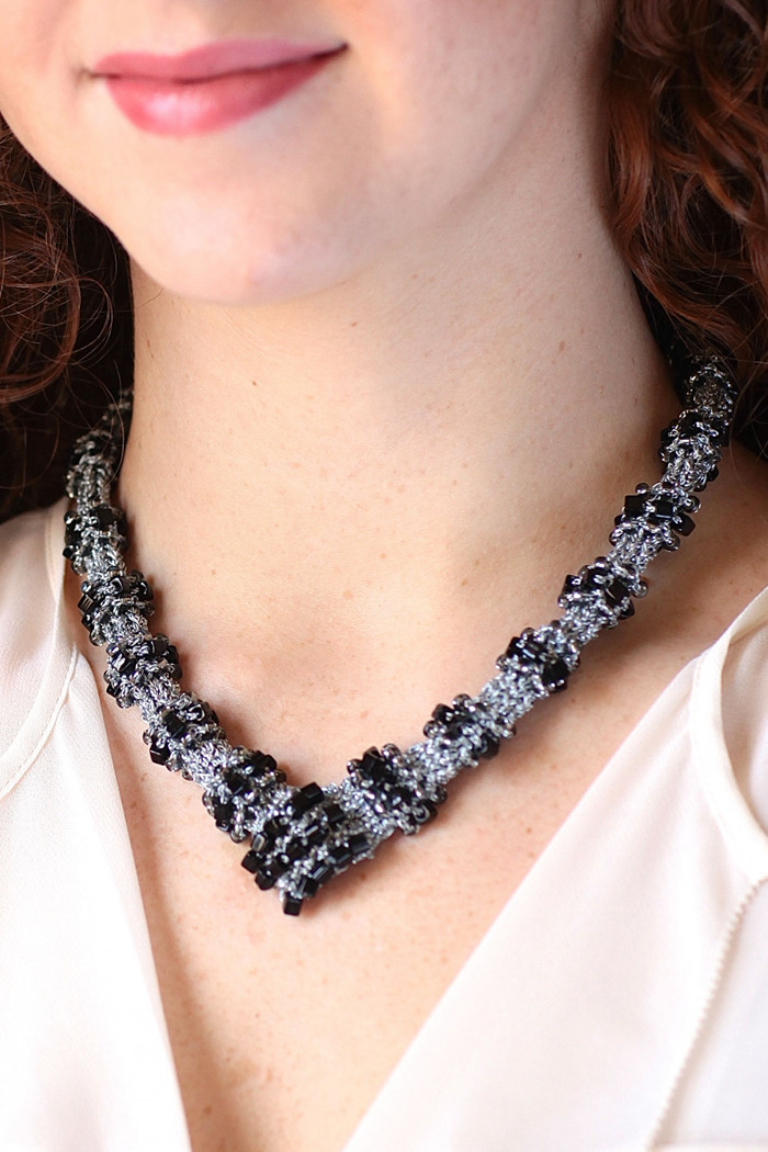 Patterns For Knitted Jewelry Toledo Necklace Knitting Pattern